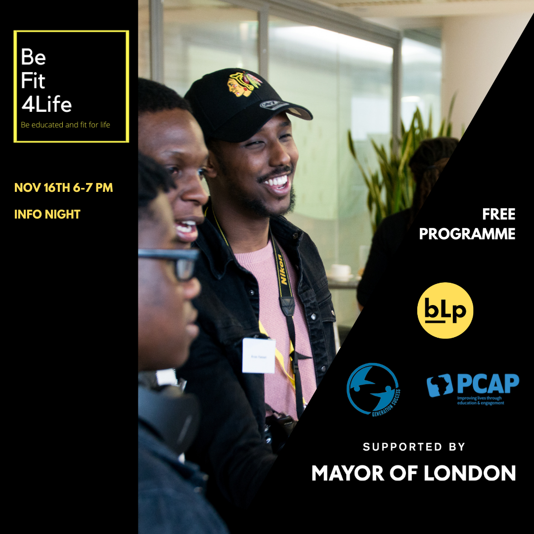 BeFit4Life info event for young people aged 16-21